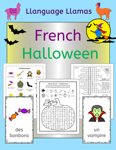 French Halloween Vocabulary Activities, Puzzles and Games by ...