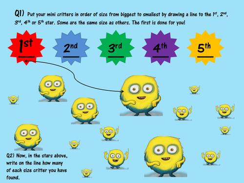 Mini Critters maths
