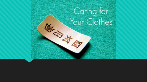 Caring for clothes