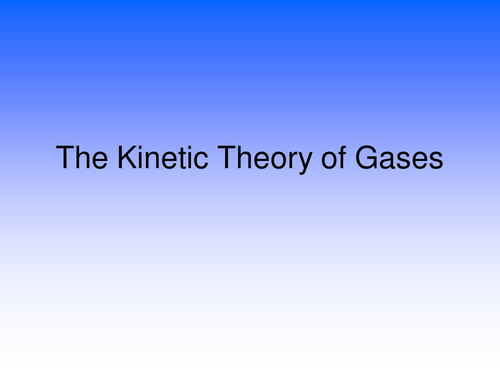 Kinetic theory of gases derivation and practice questions