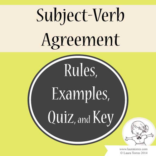 Subject Verb Agreement Rules Examples Quiz And Key By