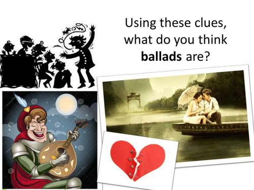 Ballads - Year 7/Year 8