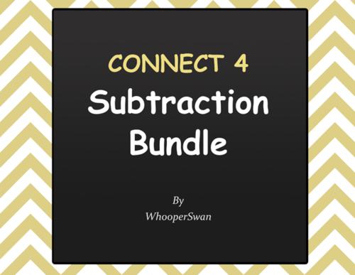 Connect 4 Game - Subtraction Bundle