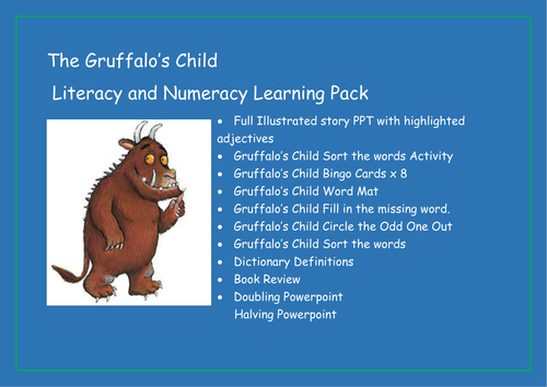 The Gruffalo\'s Child - Literacy and Numeracy Learning Pack by ...