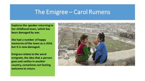 The Emigree - Carol Rumens