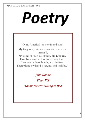 To John Donne by Michael Symmons Roberts