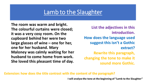 Argumentative Essay On Social Media  Visual Learner Essay also Hindi Essay On Rabindranath Tagore Lamb To The Slaughter By Sophieekelly  Teaching Resources  Tes Macbeth Act 1 Scene 7 Essay