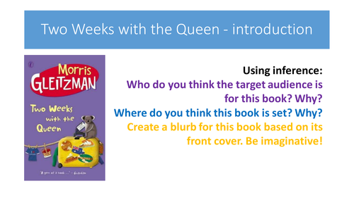 Two Weeks with the Queen - full resources