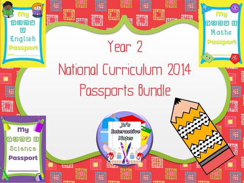 Year 2 National Curriculum Passports Bundle