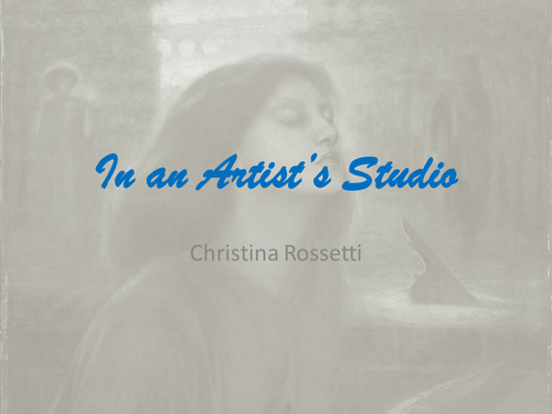 Christina Rossetti In an Artist's Studio