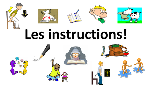 French Teaching Resources Classroom Instructions PowerPoint & Fanfold.