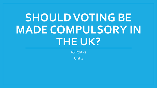 why should voting be compulsory