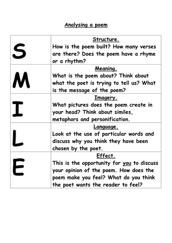 poetry - SMILE