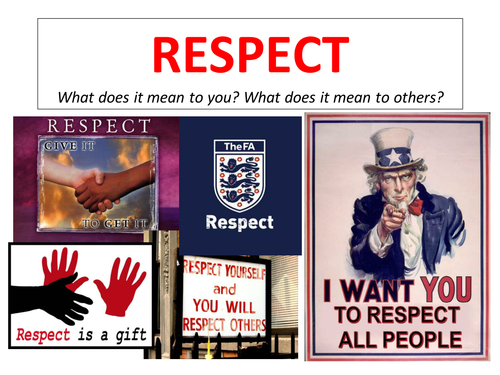 respect to be respected essay What is respect find a definition of respect that kids can understand we answer what is respect with real-life examples that teach kids about respect for others and respect for self.