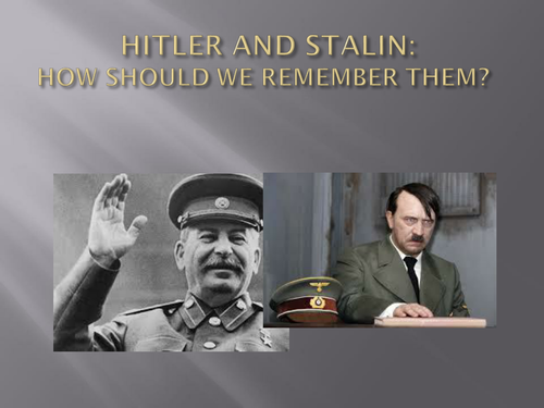 PP INTRODUCTION TO HITLER AND STALIN