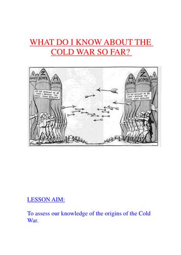 GCSE: Origins of the Cold War Test