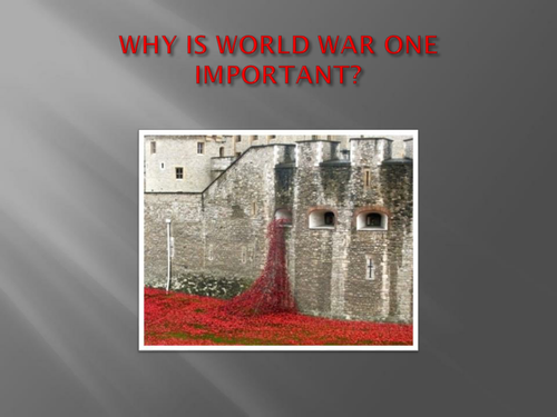 PP: Why Is World War One Important?