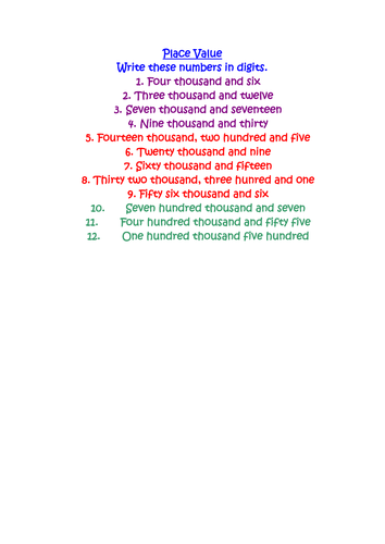 4 Place Value Ordering and Rounding Activities by Alenamai ...