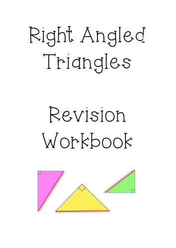 Right Angled Triangles (Trigonometry Pythagoras) Revision Book