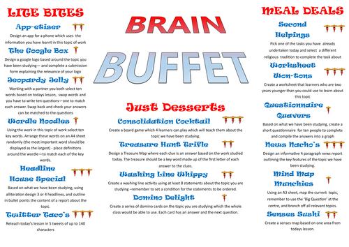 Extension Tasks - Choose your own (Brain Buffett)