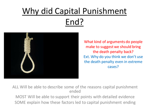 Why did Capital Punishment End? Crime and Punishment in the Twentieth Century