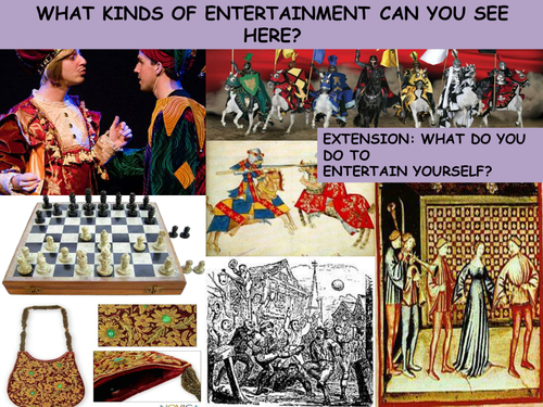 How did people entertain themselves in the Middle Ages?