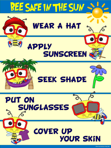 Sun Safe Poster Quot Bee Safe In The Sun Quot By Ejpc2222