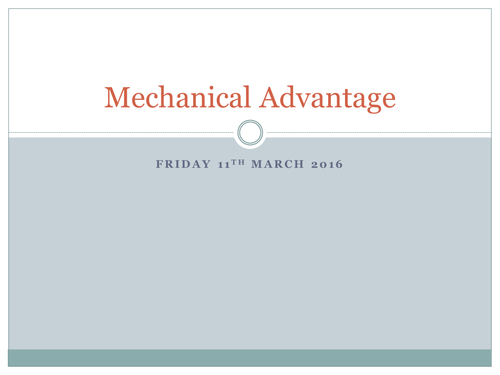 AQA GCSE PE 2016 Spec - Mechanical Advantage