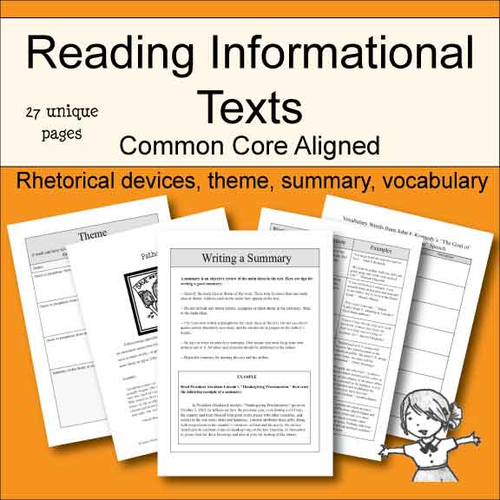 Rhetorical Devices AFOREST by johncallaghan Teaching Resources – Reading Informational Text Worksheets