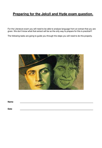 Jekyll and Hyde - a guided reading response to an exam style question