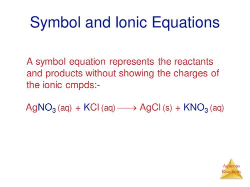 GCSE Ionic equations