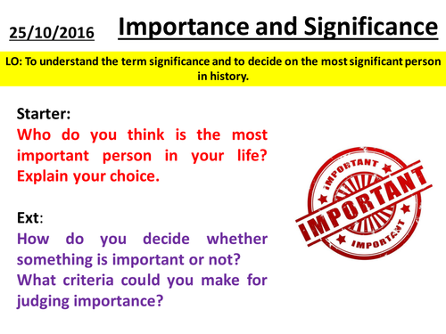 History Skills - Importance and Significance
