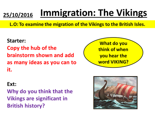 History Skills - Viking Immigration to the UK