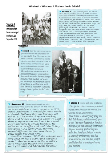 History Skills - Windrush Immigration