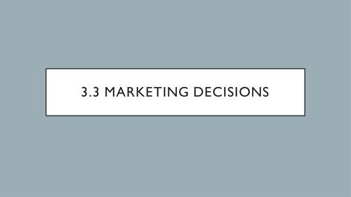 AQA - 3.3.1 - Setting Marketing Objectives