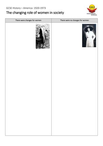 AQA GCSE History - Women in the 1920s (USA)