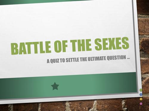 Battle of the Sexes Trivia Quiz