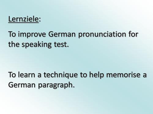German Pronunciation Lesson