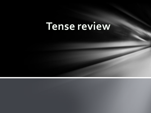 English tense review