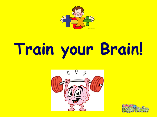 KS2/Key Stage 2 Train Your Brain Maths Starters