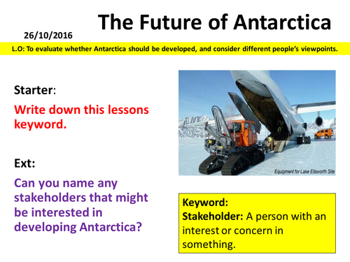 Antarctica - The Future of Antarctica