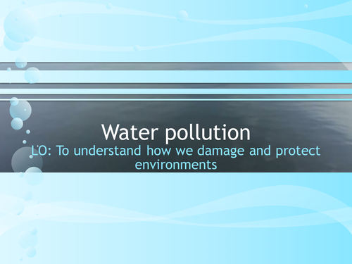 Water pollution worksheet by idj Teaching Resources TES – Water Pollution Worksheet