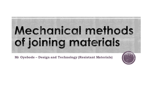 Mechanical methods of joining materials
