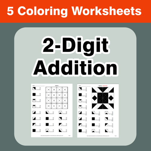 2-Digit Addition - Coloring Worksheets by bios444 - Teaching ...