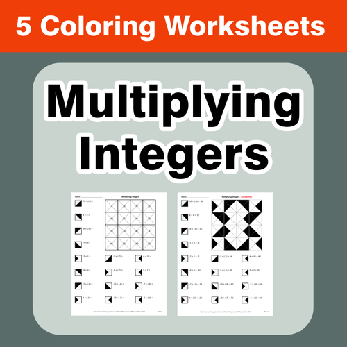 Adding Integers  Coloring Worksheets by bios444  Teaching