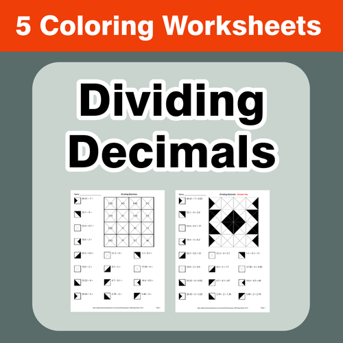 dividing decimals coloring worksheets by bios444 teaching resources tes. Black Bedroom Furniture Sets. Home Design Ideas