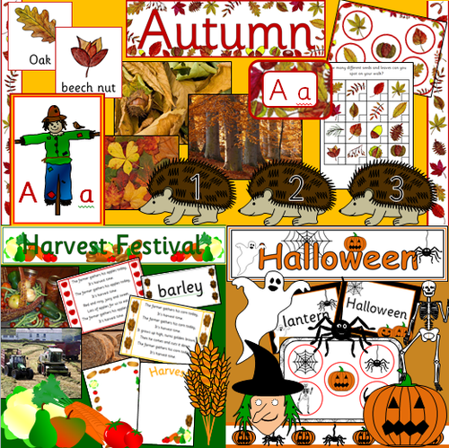 Autumn bumper pack- Halloween, festivals, Harvest, Stories