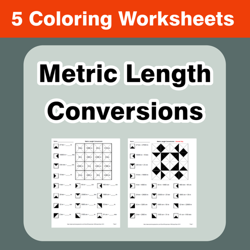 Metric Length Conversions Coloring Worksheets By Bios444