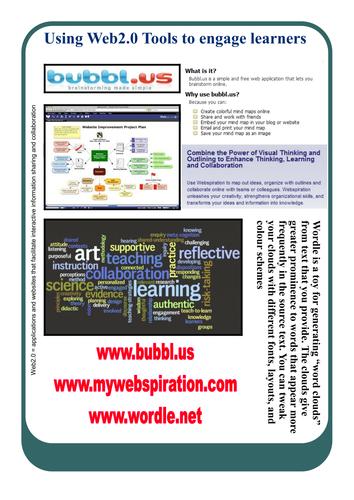 Using Web 2.0 Tools poster