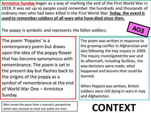 poem coparison poppies and futility